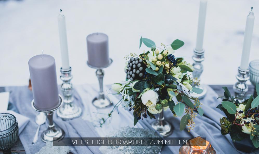 Tischlein schm ck dich ihre individuelle dekoration in for Dekoration leihen